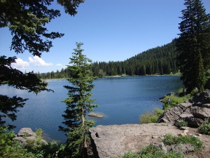 Tony Grove Lake, 8,000ft above sea level.