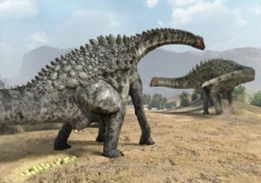 (Photo : J.A. Peñas - SINC) This is an artist's impression of the egg laying of an Ampelosaurus. (From the article)