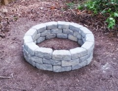 The fire pit we built during vacation.