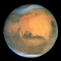 Mars, by NASA and The Hubble Heritage Team (STScI/AURA) [Public domain]