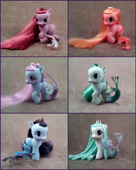 G4 Filly Merponies, by Hannaliten.