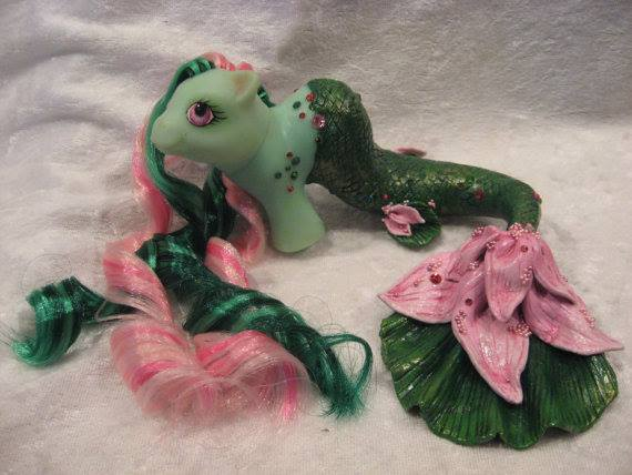 Nerida the water lilly merpony, by Assassin Kitty Customs