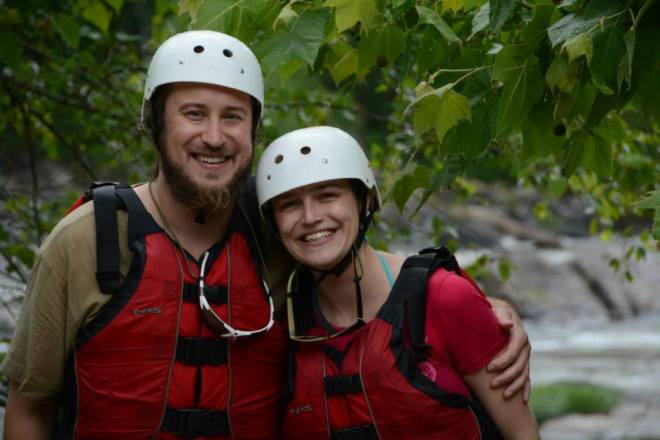 Hubs and I post-rafting
