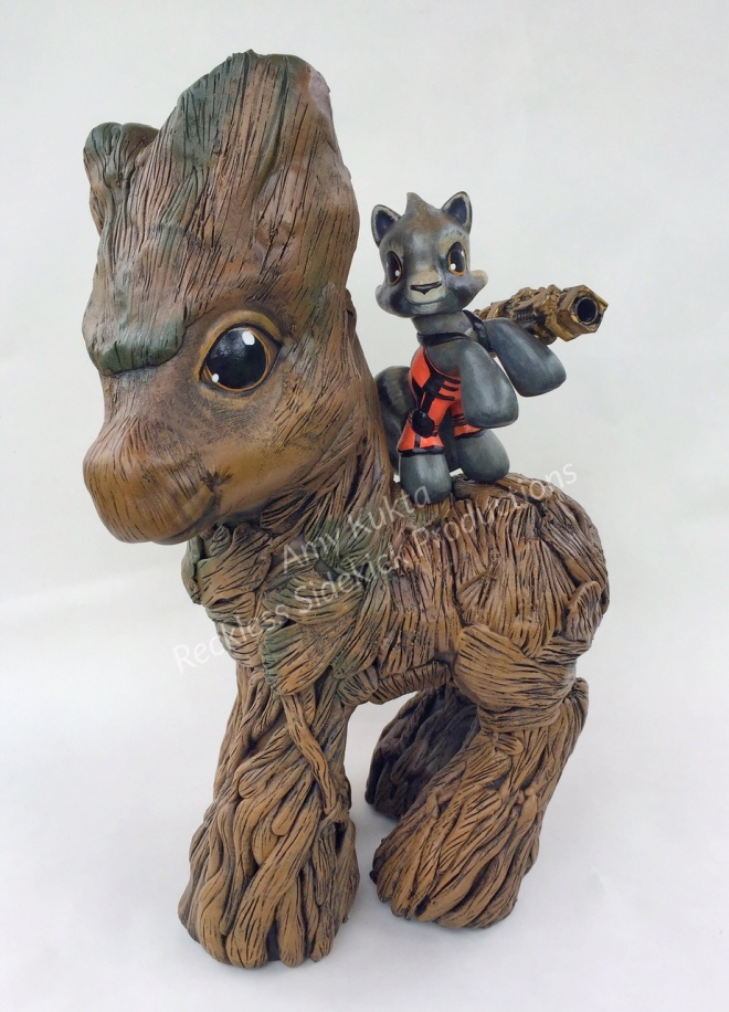 Groot and Rocket, by Amy Kukta